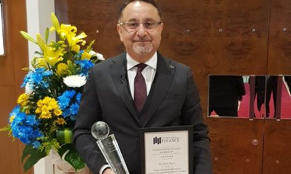 EHSANOLLAH BAYAT, CHAIRMAN OF AFGHAN WIRELESS, ARIANA TELEVISION, RECEIVES BEST MEDIA AND TELECOM CEO AWARD FROM INTERNATIONAL FINANCE MAGAZINE