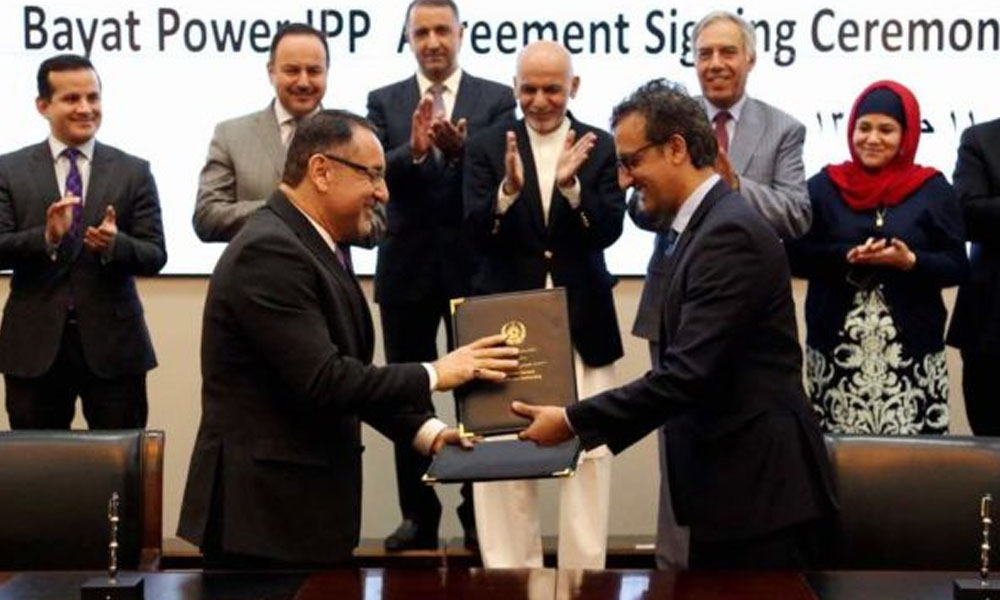 GOVERNMENT OF AFGHANISTAN, BAYAT POWER SIGN AGREEMENT APPROVING BAYAT-1 POWER PROJECT