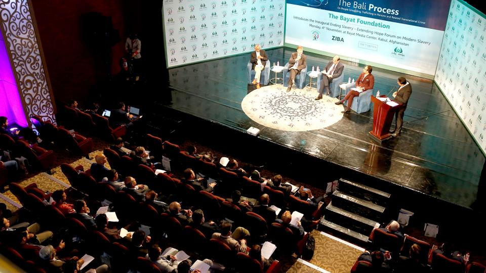 THE BAYAT FOUNDATION HELPS LEAD FIGHT AGAINST MODERN SLAVERY WITH 'ENDING SLAVERY – EXTENDING HOPE,' ANTI SLAVERY CONFERENCE